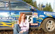 Jamie Thomas, una mujer piloto de rally