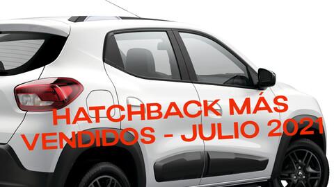 Top 20 - hatchback más vendidos en Colombia en julio de 2021