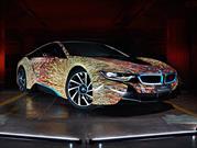 BMW i8 Futurism Edition, arte italiano en lienzo alemán