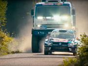 Video: Kamaz 4326 vs Volkswagen Polo R WRC