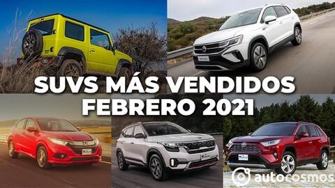 Los 10 SUVs más vendidos en febrero 2021