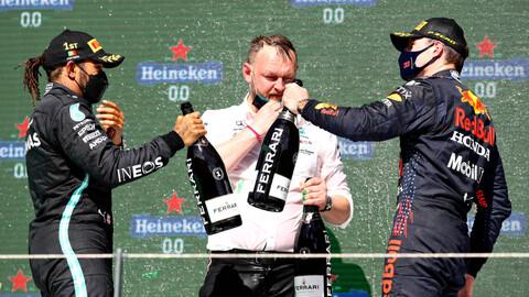 F1 2021: el golpe de Portugal lo dio Hamilton