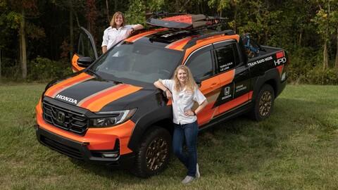 Honda HPD Ridgeline, una pickup de rally conducida y navegada por mujeres