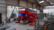 Autobús londinense que hace lagartijas