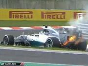 F1 GP de Hungría Clasificación, Hamilton en llamas