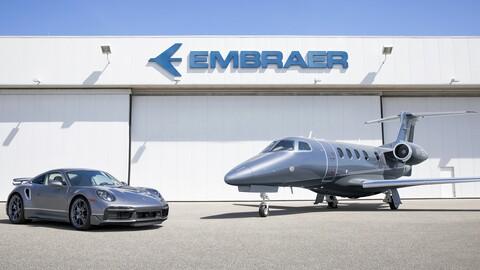 Mega combo: Si compras un jet Embraer, puedes llevar un exclusivo Porsche 911 Turbo S
