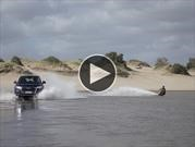 Video: Audi Q5 se le animó al wakeboard en Cariló
