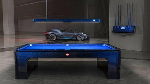 Bugatti crea una mesa de billar inspirada en el diseño del Divo