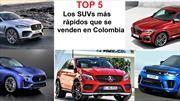 Top 5 de los SUVs más rápidos a la venta en Colombia