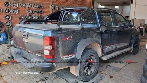 Chevrolet S10 Z71 espiada sin camuflaje en Brasil