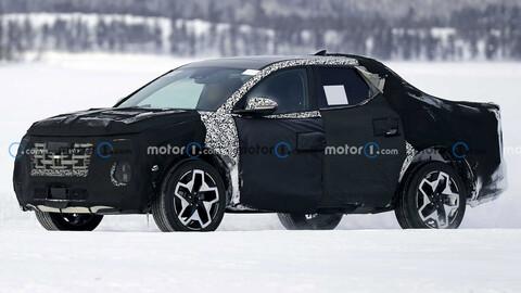 Hyundai Santa Cruz se prueba en la nieve