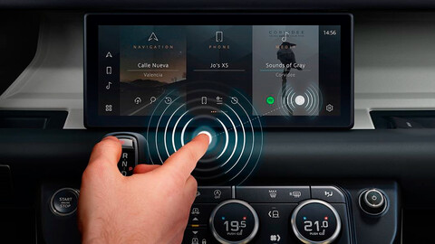 Jaguar Land Rover creó una pantalla multimedia que no es táctil