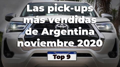 Top 9 las pickups más vendidas de Argentina en Noviembre de 2020