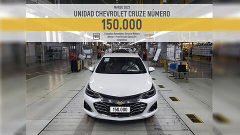 Chevrolet Cruze alcanzó las 150.000 unidades producidas en Argentina