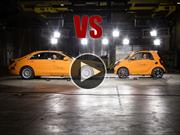 smart ForTwo vs Mercedes-Benz Clase S en una prueba de choque