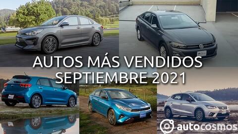 Los 10 autos más vendidos en septiembre 2021