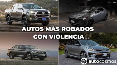 Los vehículos más robados con violencia de mayo 2020 a abril 2021 en México
