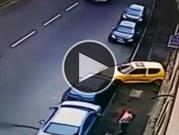 ¿Es este el peor intento de estacionar un auto?