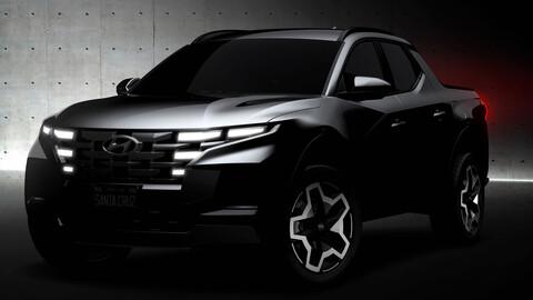 Hyundai inicia la cuenta regresiva para el debut de la camioneta Santa Cruz 2022