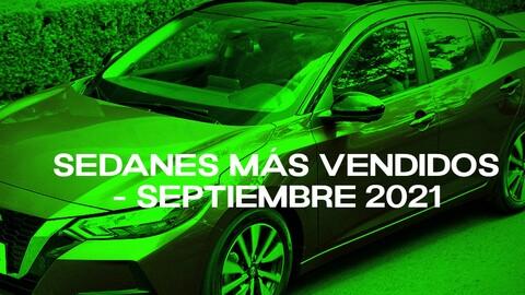 Sedanes más vendidos en Colombia en septiembre de 2021
