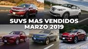 Los 10 SUVs más vendidos en marzo 2019