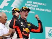 F1 2017 GP de Malasia: Festejo de Verstappen