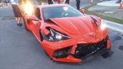 Un nuevo Chevrolet Corvette no duró ni un día en manos de su dueño