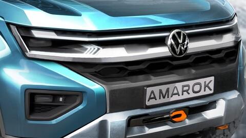 Así luce la nueva Volkswagen Amarok que comparte plataforma con la Ranger