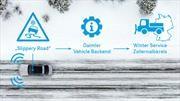 Mercedes-Benz inicia pruebas piloto para mejorar su protocolo Car-to-X en conducción invernal