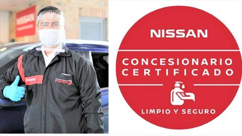 Nissan certifica en bioseguridad a sus concesionarios de Latinoamérica