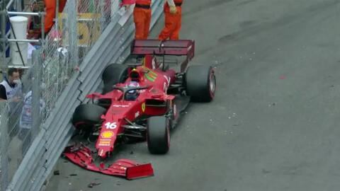 F1 Clasificación GP Monaco 2021: Leclerc con pole y susto