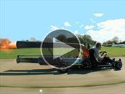 Video: mirá este karting con turbina