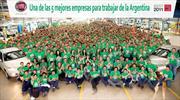 Fiat Auto entre las 5 mejores empresas para trabajar en la Argentina