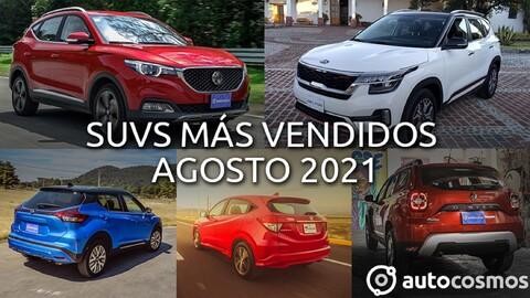 Los 10 SUVs más vendidos en agosto 2021