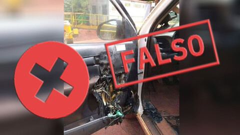 El alcohol en gel y los incendios en los autos: Te contamos la verdad