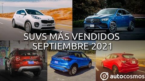 Los 10 SUVs más vendidos en septiembre 2021