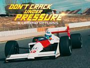 Fernando Alonso al volante del mítico McLaren de Senna