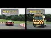 Ferrari 488 GTB vs Ambulancia, duelo épico