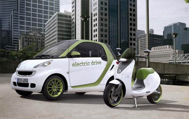 Se muestra el Scooter de Smart antes del Salón de París