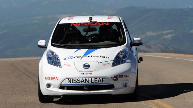 Nissan Leaf obtiene la victoria en el circuito Pikes Peak