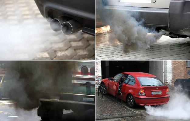 Tipos de humo de los autos