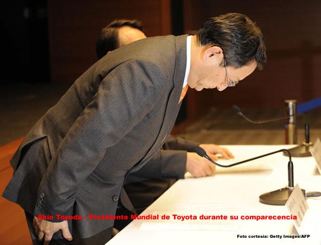 Akio Toyoda CEO de Toyota a nivel mundial comparece en EEUU