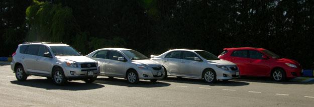 Megaprueba Toyota 2009: Yaris Sedán, Rav4, Matrix y Corolla XRS