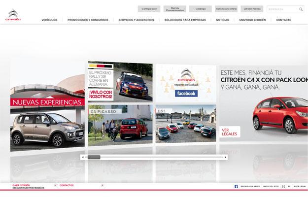 Citroën aplica el Créative Technologie en su sitio web