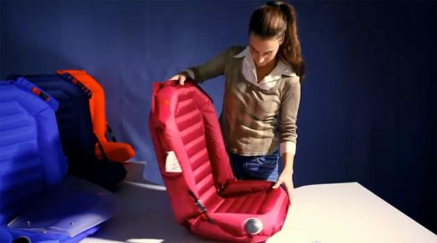 Autoasiento completamente inflable para niños