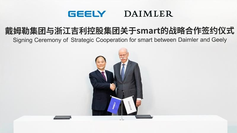 Daimler y Geely Holding se unen para el desarrollo y fabricación de autos eléctricos smart