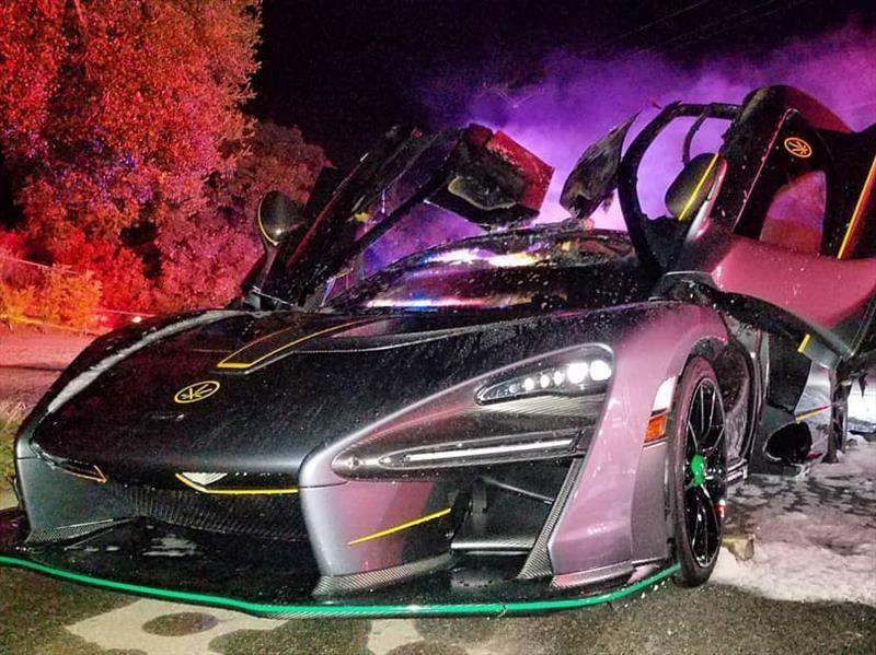 McLaren Senna de un Youtuber, se incendió