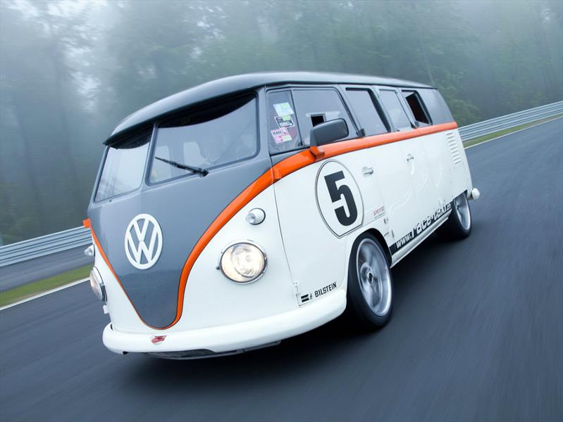 vw t1 race taxi una combi con motor de porsche. Black Bedroom Furniture Sets. Home Design Ideas