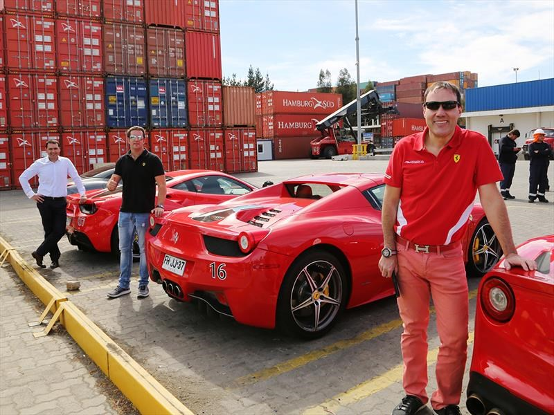 Cuatro chilenos recorrerán Europa en sus propios Ferrari