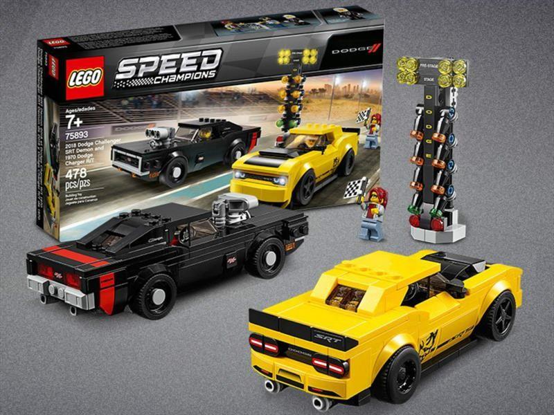 Dodge Challenger Demon y Charger R/T 1970 al estilo Lego